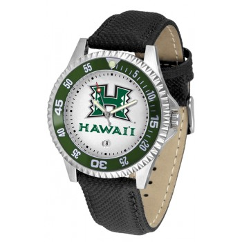 University Of Hawaii Mens Watch - Competitor Poly/Leather Band