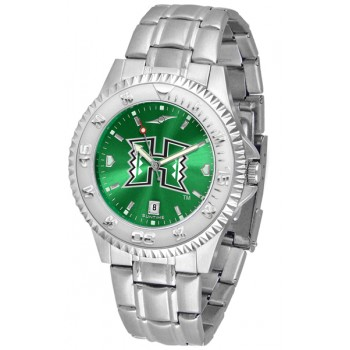 University Of Hawaii Mens Watch - Competitor Anochrome Steel Band