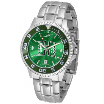 University Of Hawaii Mens Watch - Competitor Anochrome - Colored Bezel - Steel Band