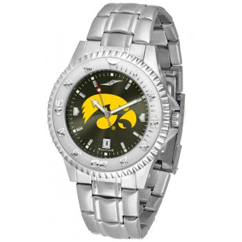 University Of Iowa Hawkeyes Mens Watch - Competitor Anochrome Steel Band