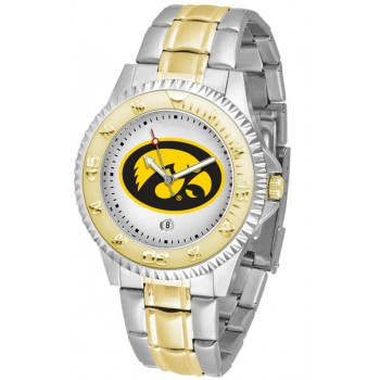 University Of Iowa Hawkeyes Mens Watch - Competitor Two-Tone
