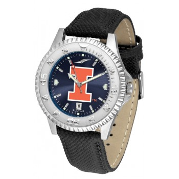Illinois Fighting Illini Mens Watch - Competitor Anochrome Poly/Leather Band
