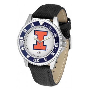 Illinois Fighting Illini Mens Watch - Competitor Poly/Leather Band