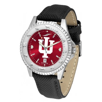 Indiana University Hoosiers Mens Watch - Competitor Anochrome Poly/Leather Band