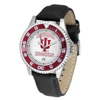 Indiana University Hoosiers Mens Watch - Competitor Poly/Leather Band