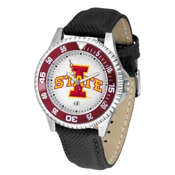 Iowa State University Cyclones Mens Watch - Competitor Poly/Leather Band