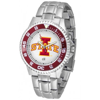 Iowa State University Cyclones Mens Watch - Competitor Steel Band
