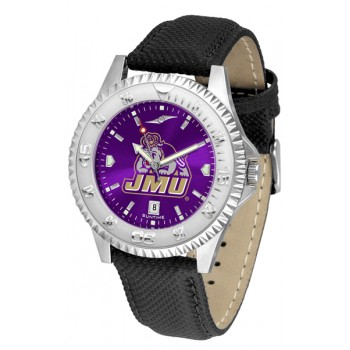 James Madison University Dukes Mens Watch - Competitor Anochrome Poly/Leather Band