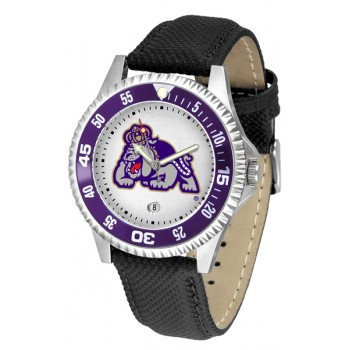 James Madison University Dukes Mens Watch - Competitor Poly/Leather Band
