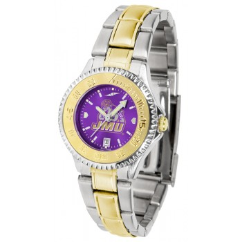 James Madison University Dukes Ladies Watch - Competitor Anochrome Two-Tone