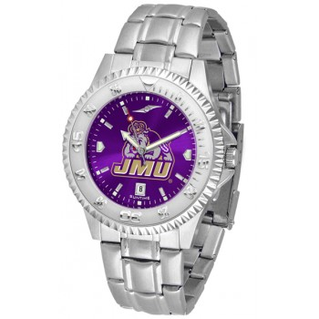 James Madison University Dukes Mens Watch - Competitor Anochrome Steel Band