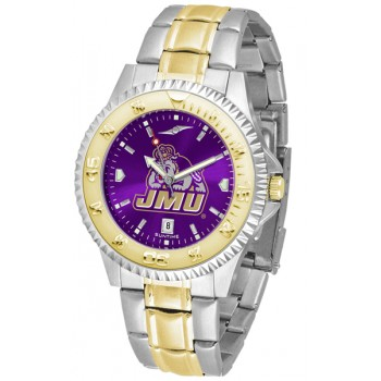 James Madison University Dukes Mens Watch - Competitor Anochrome Two-Tone
