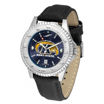 Kent State University Golden Flashes Mens Watch - Competitor Anochrome Poly/Leather Band