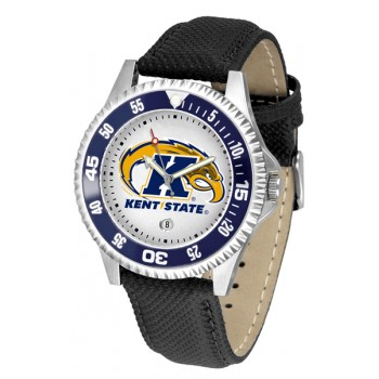Kent State University Golden Flashes Mens Watch - Competitor Poly/Leather Band