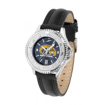 Kent State University Golden Flashes Ladies Watch - Competitor Anochrome Poly/Leather Band