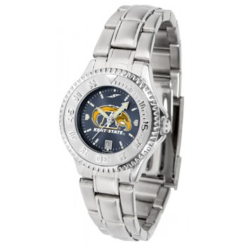 Kent State University Golden Flashes Ladies Watch - Competitor Anochrome Steel Band