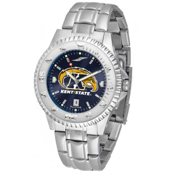Kent State University Golden Flashes Mens Watch - Competitor Anochrome Steel Band