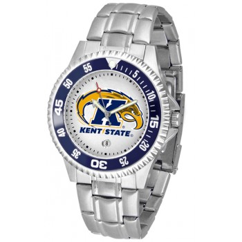 Kent State University Golden Flashes Mens Watch - Competitor Steel Band