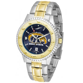 Kent State University Golden Flashes Mens Watch - Competitor Anochrome Two-Tone