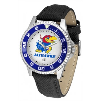 University Of Kansas Jayhawks Mens Watch - Competitor Poly/Leather Band
