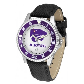 Kansas State University Wildcats Mens Watch - Competitor Poly/Leather Band