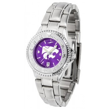 Kansas State University Wildcats Ladies Watch - Competitor Anochrome Steel Band