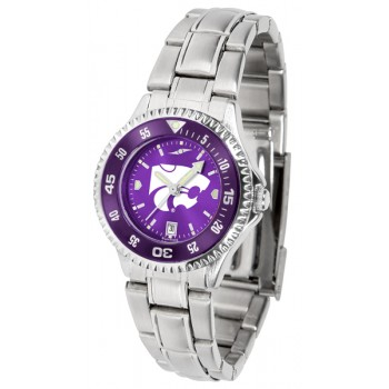 Kansas State University Wildcats Ladies Watch - Competitor Anochrome - Colored Bezel - Steel Band