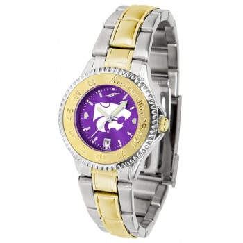 Kansas State University Wildcats Ladies Watch - Competitor Anochrome Two-Tone