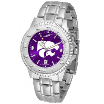 Kansas State University Wildcats Mens Watch - Competitor Anochrome Steel Band