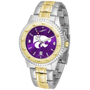 Kansas State University Wildcats Mens Watch - Competitor Anochrome Two-Tone