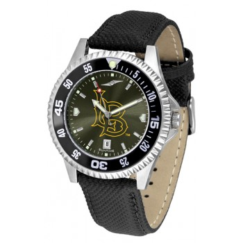 California State University Long Beach Mens Watch - Competitor Anochrome Colored Bezel Poly/Leather Band