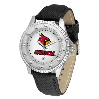 University Of Louisville Cardinals Mens Watch - Competitor Poly/Leather Band