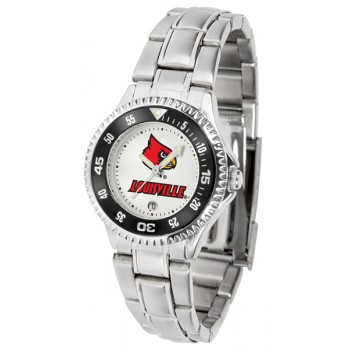 University Of Louisville Cardinals Ladies Watch - Competitor Steel Band
