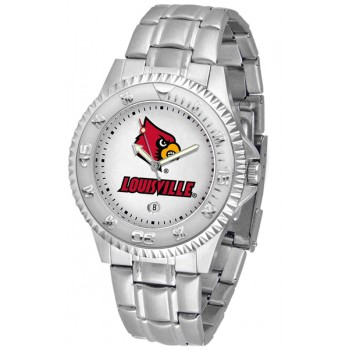 University Of Louisville Cardinals Mens Watch - Competitor Steel Band