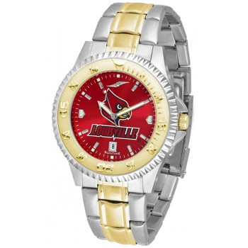 University Of Louisville Cardinals Mens Watch - Competitor Anochrome Two-Tone