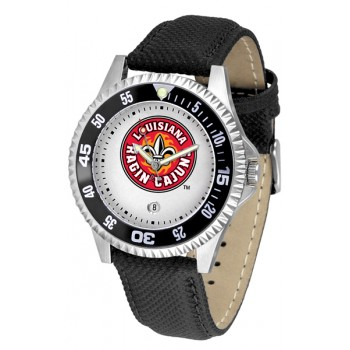 University Of Louisiana At Layfayette Ragin' Cajuns Mens Watch - Competitor Poly/Leather Band