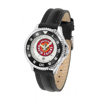 University Of Louisiana At Layfayette Ragin' Cajuns Ladies Watch - Competitor Poly/Leather Band