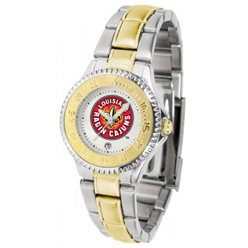 University Of Louisiana At Layfayette Ragin' Cajuns Ladies Watch - Competitor Two-Tone