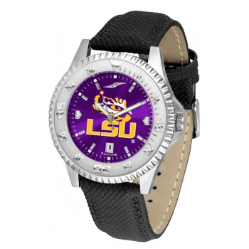 Louisiana State University Tigers Mens Watch - Competitor Anochrome Poly/Leather Band