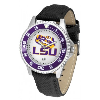 Louisiana State University Tigers Mens Watch - Competitor Poly/Leather Band