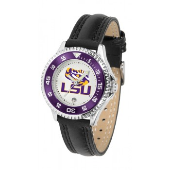 Louisiana State University Tigers Ladies Watch - Competitor Poly/Leather Band