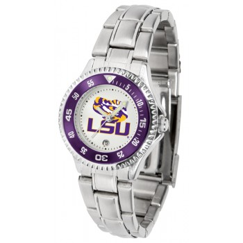 Louisiana State University Tigers Ladies Watch - Competitor Steel Band