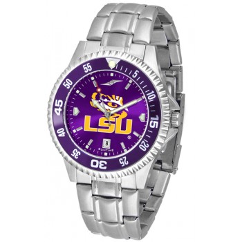 Louisiana State University Tigers Mens Watch - Competitor Anochrome - Colored Bezel - Steel Band