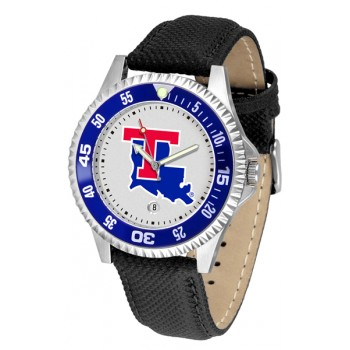 Louisiana Tech University Mens Watch - Competitor Poly/Leather Band