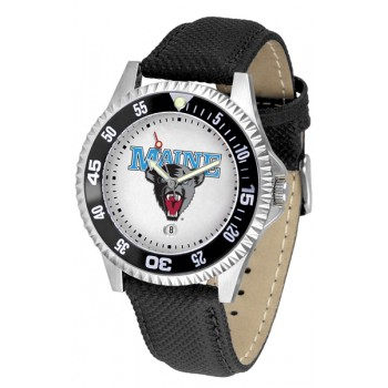 University Of Maine Black Bears Mens Watch - Competitor Poly/Leather Band