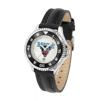 University Of Maine Black Bears Ladies Watch - Competitor Poly/Leather Band