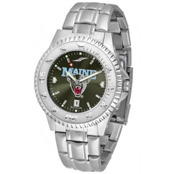 University Of Maine Black Bears Mens Watch - Competitor Anochrome Steel Band