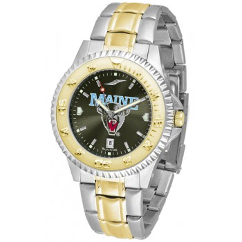 University Of Maine Black Bears Mens Watch - Competitor Anochrome Two-Tone