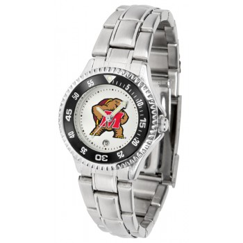 University Of Maryland Terrapins Ladies Watch - Competitor Steel Band