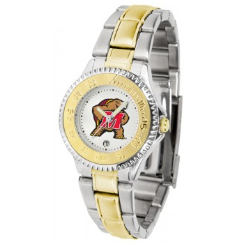 University Of Maryland Terrapins Ladies Watch - Competitor Two-Tone